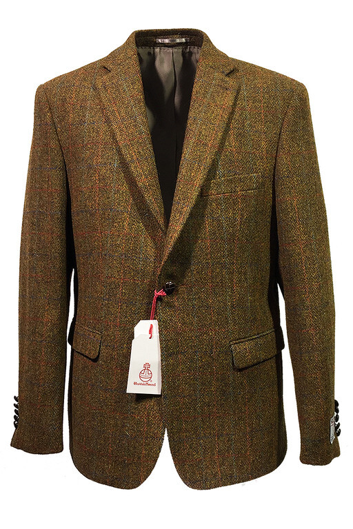 HARRIS TWEED KAVAJ BRUNORANGE